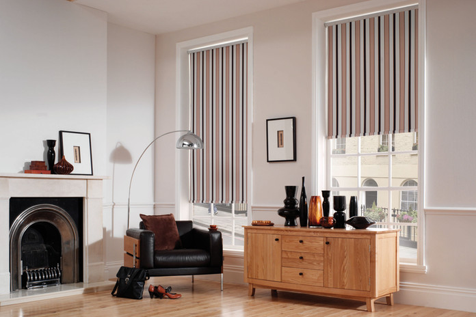 Jigsaw Blind Stripe Roller Blind