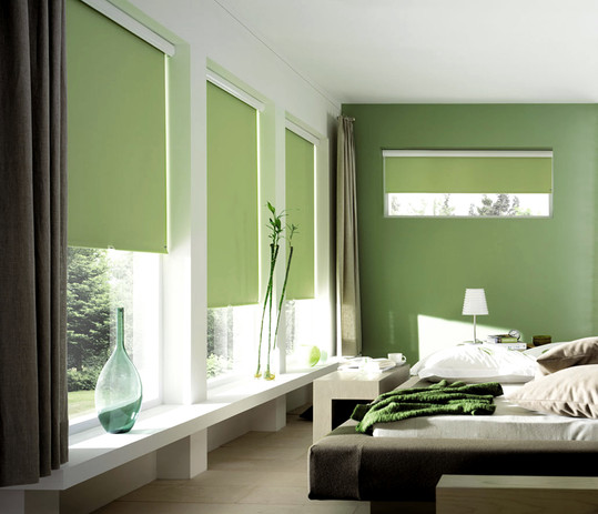 Jigsaw Blinds Green Roller Blind