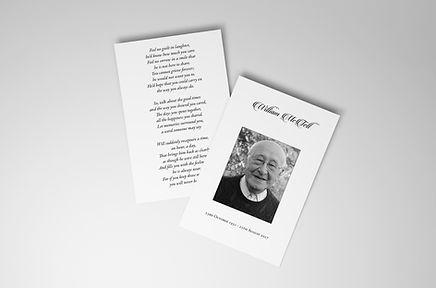 Tell Design and Print Memorial Card