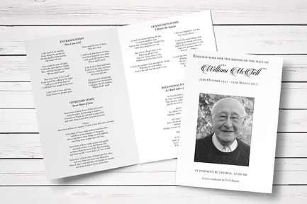 Tell Design and Print Order of Service