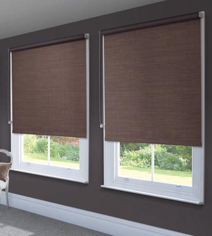Jigsaw Blind Brown Roller Blind