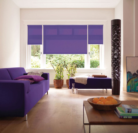 Jigsaw Blind Purple Roller Blind