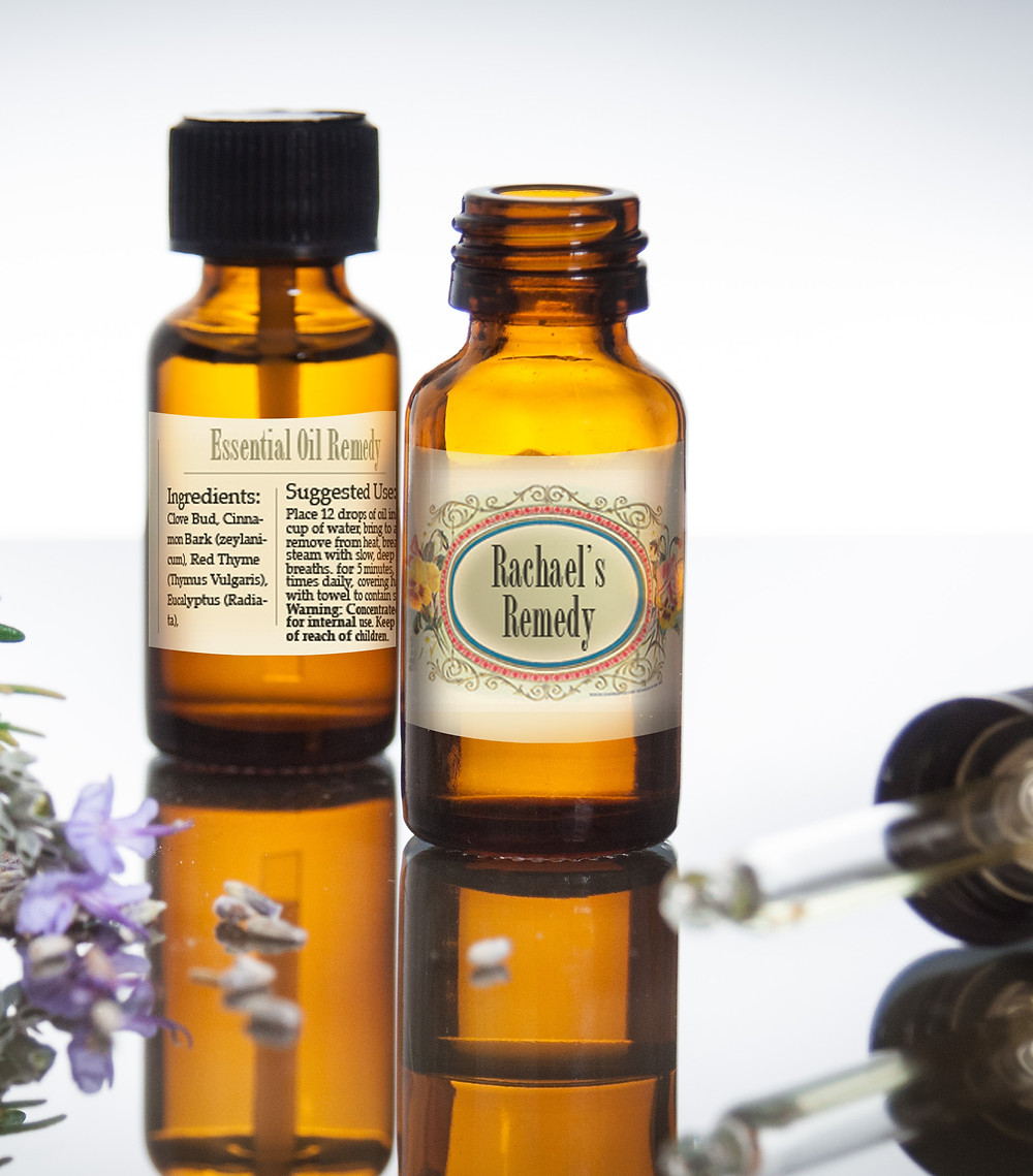 Rachael's Remedy essential oil bottle