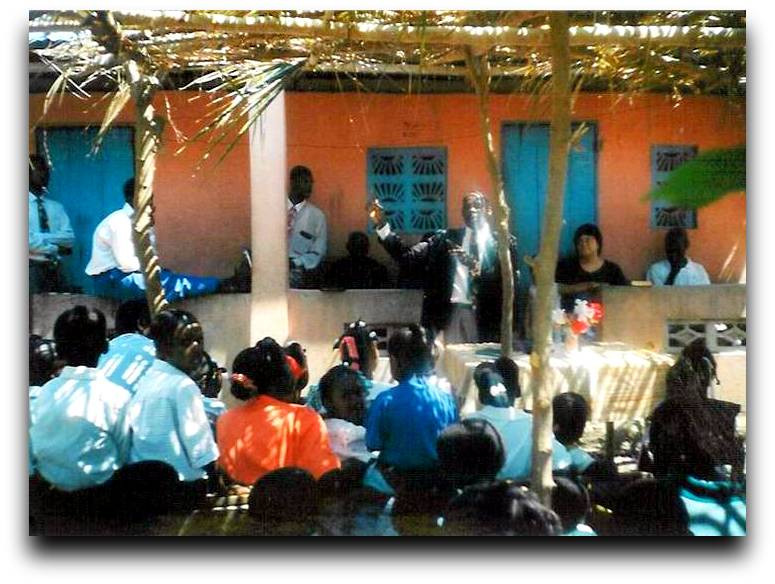 The site of our first conference in 2000 was in front of Pastor Bauvais' house.