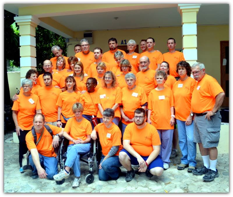 A picture of sad goodbyes from the Mission USA team in Haiti