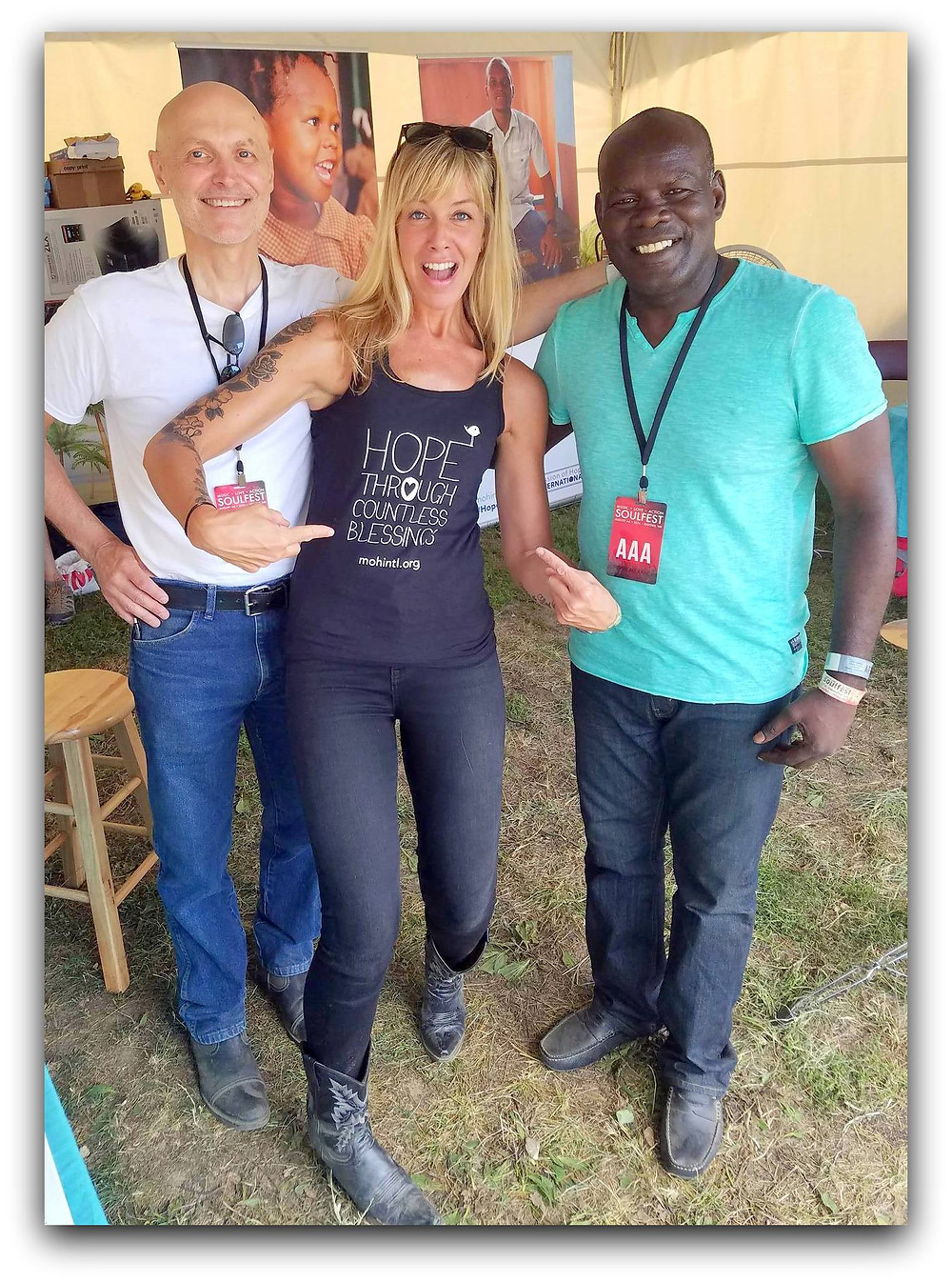 Co-founder of Soulfest, Shawn Alexander, and singer Courtney Reid join Lex in the MOHI tent.