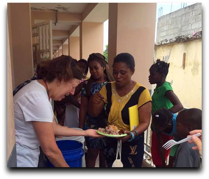 The women enjoyed lunch each day of their health fair.