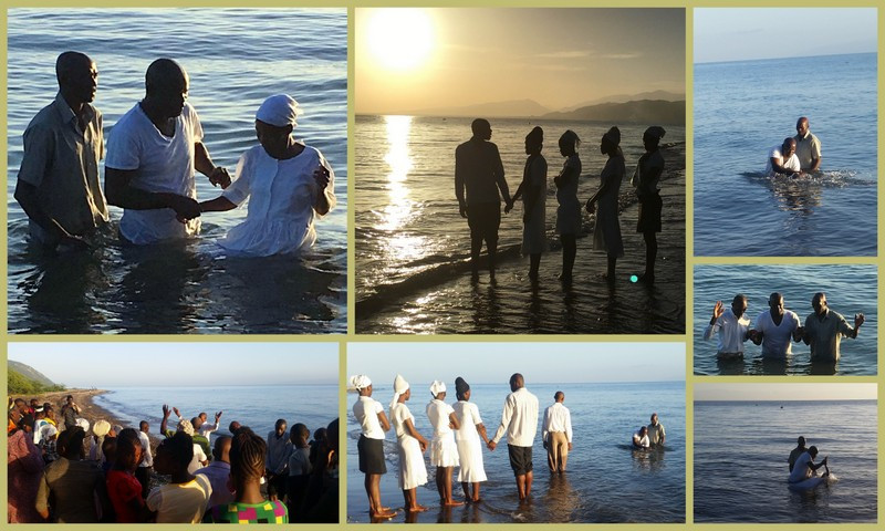 Baptism service at MOHI's missionary compound this morning