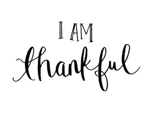Thankfulness? Yes!