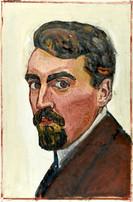 Hector Hodler, Autoportrait, vers 1912. Genève, Institut Ferdinand Hodler, Archives Jura Brüschweiler, HH-4010-0003