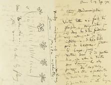 Lettre de Ferdinand Hodler à une inconnue, Berne, 14 septembre 1901. Genève, Institut Ferdinand Hodler, Archives Jura Brüschweiler, FH-1010-0006.