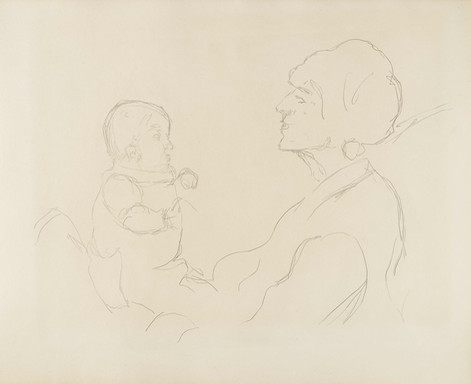 Ferdinand Hodler, Mère et enfant, 1913/14. Genève, Institut Ferdinand Hodler, dépôt d'une collection privée.