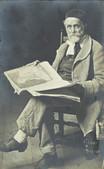 Auteur non identifié, Portrait d'Albert Anker, 1908. Genève, Institut Ferdinand Hodler, Archives Jura Brüschweiler, AS-ANK.