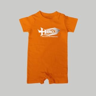 HEROベビー服オレンジ