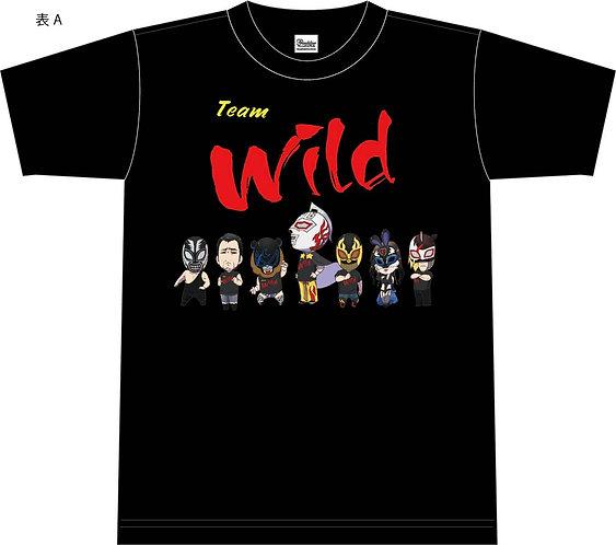 ワイルド軍団Tシャツ2020コモンデザインブラックver.