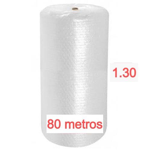 Bobina de Plástico Bolha 1,30  X 80 metros