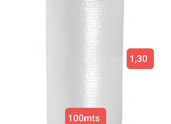 Bobina de Plástico bolha 1,30 ALTURA X 100 MTS