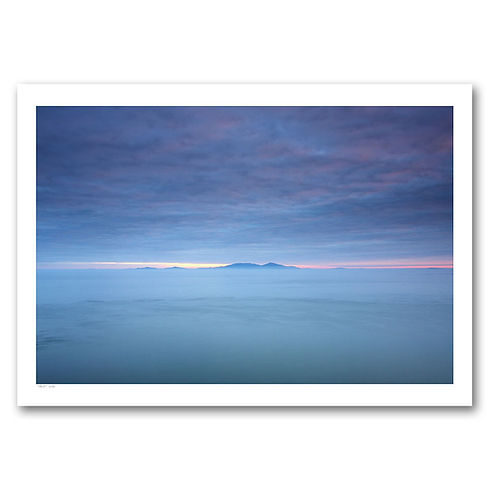 Looking from Neist Point on Skye to Harris in the blue hour