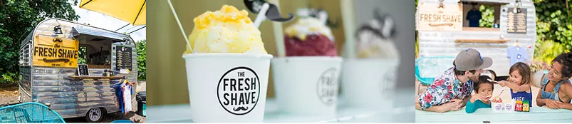 Stitched Image of Shave Ice and Trailer.