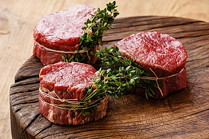 Raw fresh marbled meat Steak filet migno