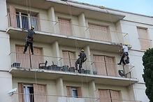 Maçonnerie, travaux acrobatiques.