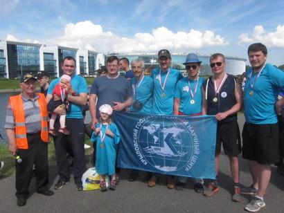 Команда первичного отделения ДОСААФ КГНЦ приняла участие в гребной регате «Весла на воду»