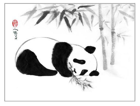 Little Panda Two Canvas