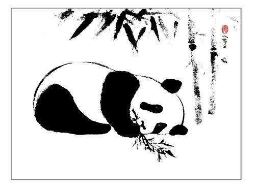 Little Panda Three Canvas