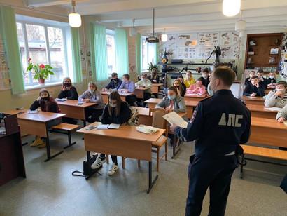 В г. Сестрорецк прошёл открытый урок по предотвращению ДТП с пьяными водителями