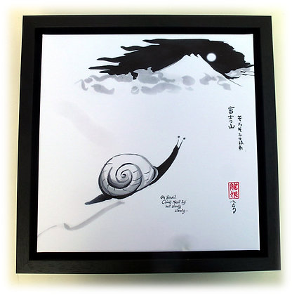 Oh Snail Framed Canvas