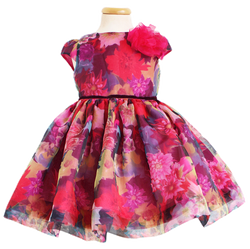 rochie fete organza flori