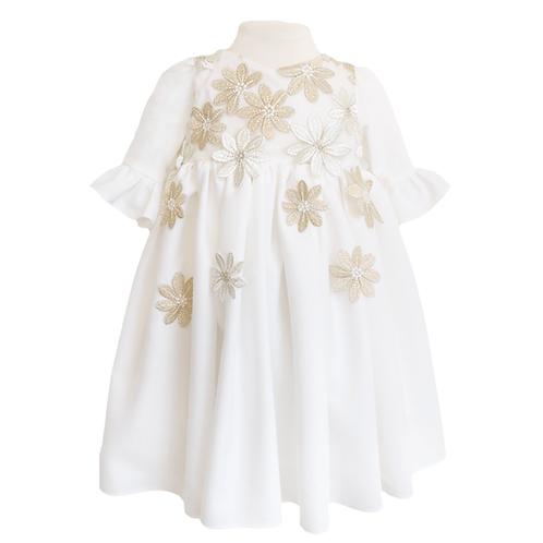 rochita botez dantela flori aurii
