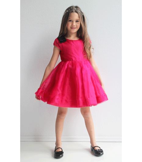 rochie fete roz, rochie fete organza