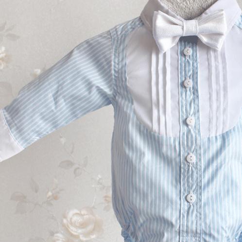 camasa albastra botez baieti