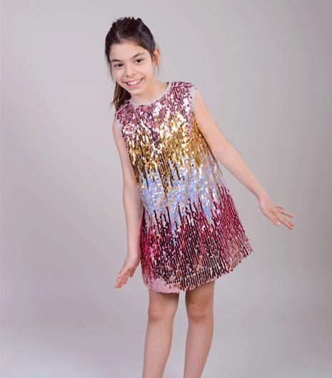 rochita paiete, rochie fete revelion