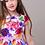 rochita fete flori fluturi bumbac