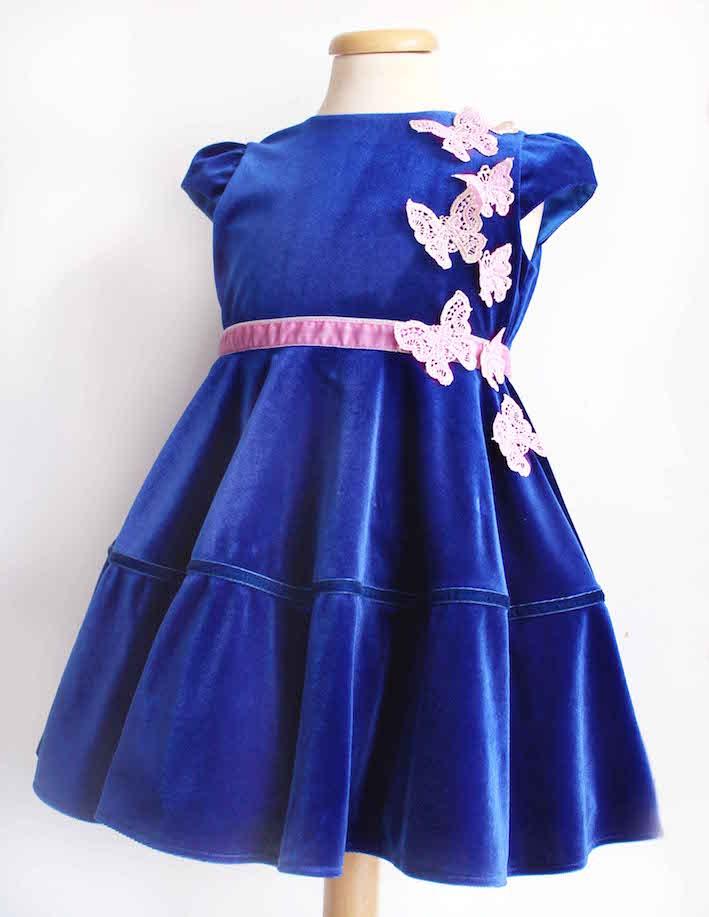 rochie albastra cadou, la comanda