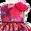 rochiefetita botez organza flori roz