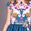 rochii fete flori albastru