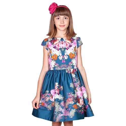 rochita fete flori albastra