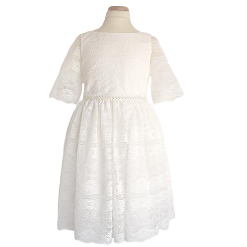 rochita dantela fete domnisoara de onoare nunta alba
