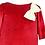 rochita fete catifea rosie serbare craciun