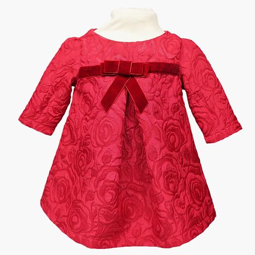 rochita rosie bebe craciun fetita