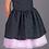rochie fete neagra tul roz
