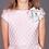 rochie fete roz argintiu volum brocart