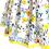 rochita botez bebe colorata flori galben albastru