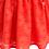 rochie fete flori rosu corai petrecere