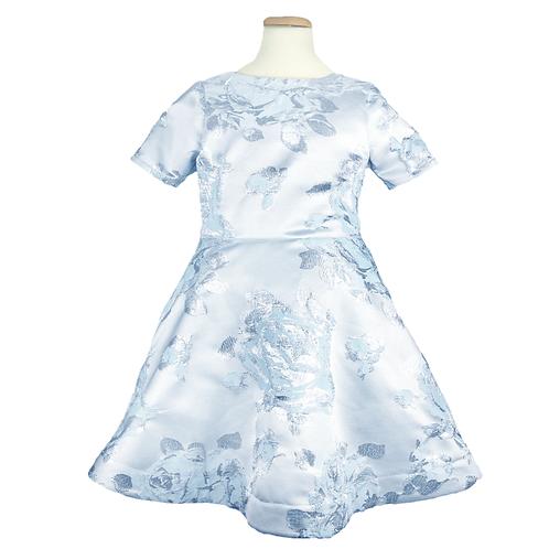 rochita fete bleu cu fir argintiu aniversare