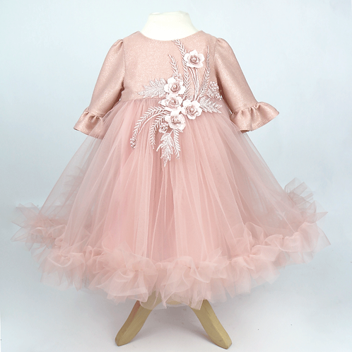 rochita botez tul roz pudrat