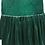 rochita fete catifea verde auriu serbare craciun
